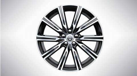 "XC60 19"" 10-Spoke Black Diamond Cut Alloy Wheel"